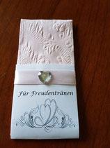Taschentücher Ornament pink mit verzierter Tasche