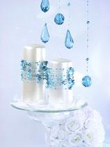 Perlenkette à 5 Stück stahlblau
