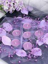 Perlenkette à 5 Stück lila