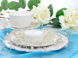 Perlenkette à 5 Stück creme