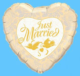 "Folien Herzballon ""Just Married"""