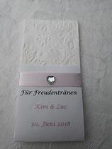 Taschentücher Ornament weiss mit bedruckter Tasche