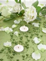 Perlenkette à 5 Stück dunkelgrün