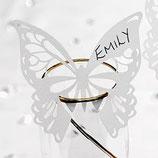 Glashalter Schmetterling im Laserschnitt
