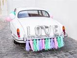 Autodekoration LOVE pastell