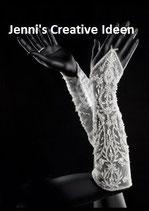 Handschuh mit Perlenstickerei