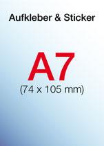 Aufkleber & Sticker drucken  Format: A7 74x105mm