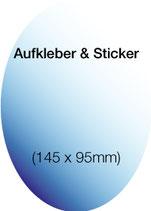 Aufkleber & Sticker drucken  Format: 145x95 mm (oval)