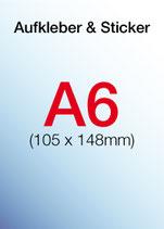 Aufkleber & Sticker drucken  Format: A6 105x148 mm