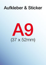 Aufkleber & Sticker drucken  Format: DIN A9 37x52 mm