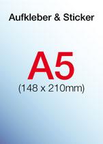 Aufkleber & Sticker drucken  Format: DIN A5 105x210 mm