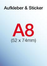Aufkleber & Sticker drucken  Format: A8 52x74 mm