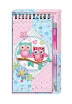 Agenda búhos con bolígrafo Ref. 8486