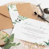 Invitación boda Olivo