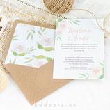 Invitación boda Primavera