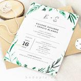 Invitación boda Forest