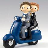 Ref. Y830 Figura pastel Boys en moto