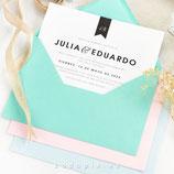 Invitación boda Bold