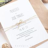 Invitación boda Simplicity