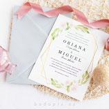 Invitación boda Golden Rose