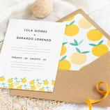 Invitación boda Lemon