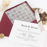 Invitación boda Alhama