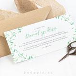 Invitación de boda Grass
