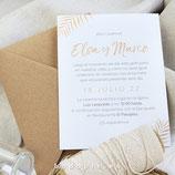 Invitación boda Palm