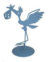 Figura pastel metálica azul Ref. 6546