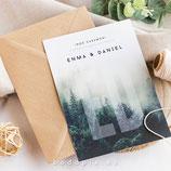 Invitación boda Wood