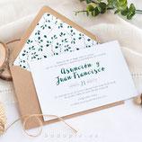 Invitación boda Sarah