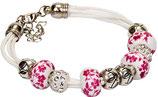 Pulsera blanca/rosa Ref. 25211