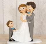 Figura tarta papás con niño Ref. Y615.3