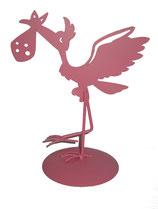 Figura pastel metálica rosa Ref. 6546