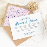 Invitación de boda Magnolia