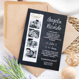 Invitación boda Chalk