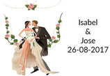 Etiqueta boda ref. TS034