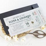 Invitación boda Cinema Love