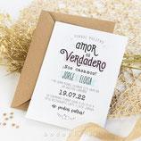 Invitación boda Play