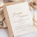 Invitación boda Espigas
