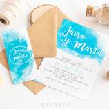 Invitación boda Aquazul