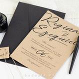 Invitación boda Trazos