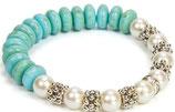 Pulsera blanca y azul Ref. 24057