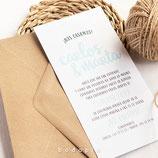 Invitación boda Bubble