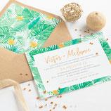 Invitación boda Selva