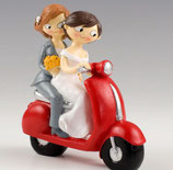 Ref. Y961 Figura pastel Girls en moto