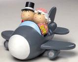Ref. Y88 Figura pastel novios avión