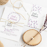 Invitación boda Malva