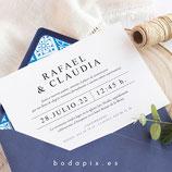 Invitación boda Alcázar