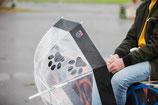 Regenschirm schwarz - Pfote DIAMANTSCHWARZ